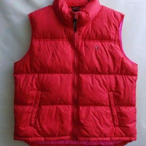 Tommy Jeans Vest/Down Womens Sz XL -RED -Pink-